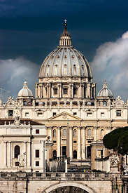 St Peter basilica in the morning, Rome