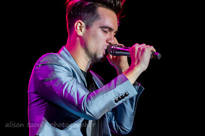 Brendon Urie, vocals, Panic! at the Disco