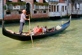 Gondolas on the Grand canal u7