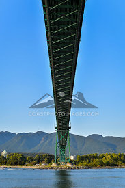 May 8th 2015, The underside of Lions Gate Bridge during a boat cruise on Sunset Bay II from coal harbour out to Lighthouse point in West Vancouver. Photo by Scott Brammer - coastphoto.com
