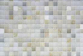 Wall tile, mixed in muted colors.