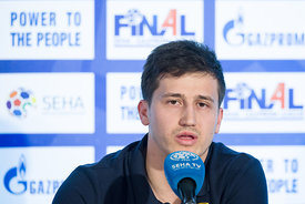 David Razgor at the opening press conference during the Final Tournament - Final Four - SEHA - Gazprom league, Skopje, 12.04.2018, Mandatory Credit ©SEHA/ Sasa Pahic Szabo