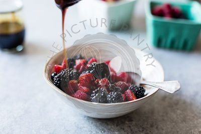 Summer berries in a bowl.