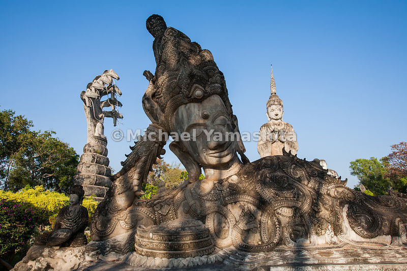 Wat Sala Kaew Ku, weird mix of Hindu and Buddhist statuary, built in 1978.
