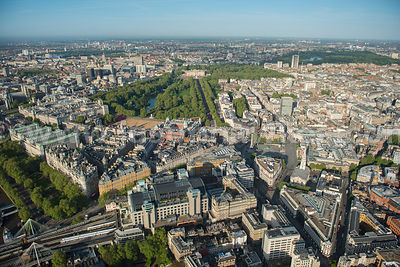 Aerial view of St James's, London