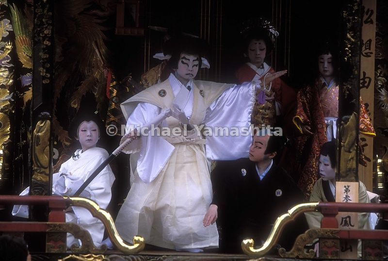 Portable stages are moved to a variety of locations for Kabuki. Nagahama