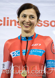 Master Women Individual Pursuit Podium. Ontario Track Championships, Mattamy National Cycling Centre, Milton, On, March 3, 2017
