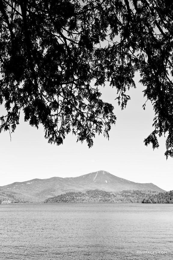 WHITEFACE MOUNTAIN LAKE PLACID UPSTATE NEW YORK BLACK AND WHITE