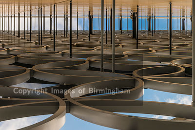 Abstract view of the Library of Birmingham, Birmingham, England