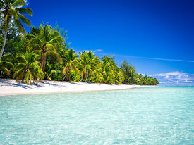 Beach scene, Rarotonga, Cook Islands