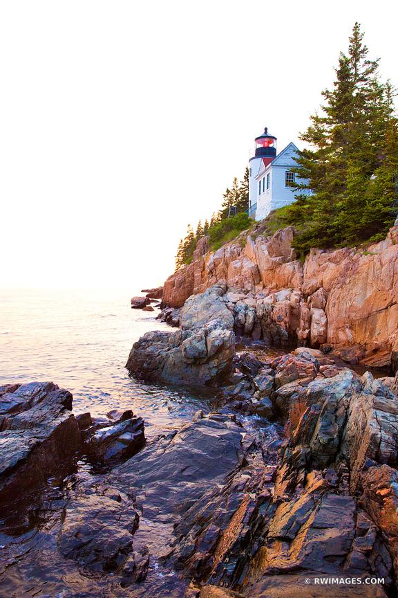 BASS HARBOR HEAD LIGHTHOUSE MAINE ACADIA NATIONAL PARK