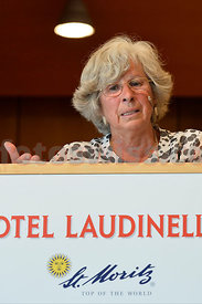 Dr. Katrin Hagen talks on Swiss National Day at Hotel Laudinella in St.Moritz