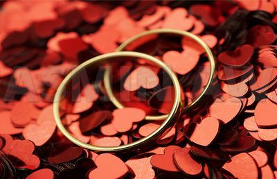 Wedding Rings with hearts