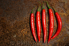 Five Red Chillie Peppers