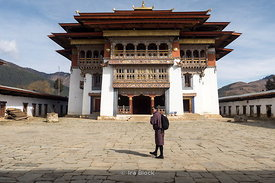 Gangtey Monastery, an important monastery of Nyingmapa school of Buddhism, located in the Wangdue Phodrang District in central Bhutan