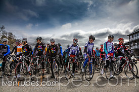 Start of the Junior/Elite 3 Men's race at the Calabogie Road Classic, Calabogie, On, April 22, 2012