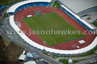 Manchester Regional Arena, Athletics track, Manchester, UK.