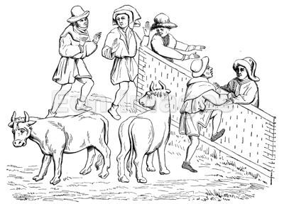 Flemish Peasants at the Cattle Market