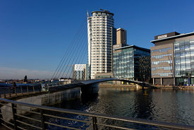 Television studios, Media City, Salford Quays, Salford, Manchester, UK.