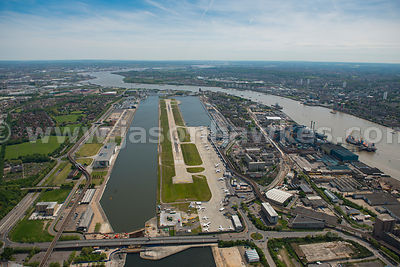 Aerial view of London City Airport
