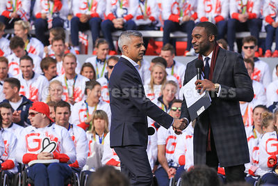 Sadiq Kahn Shaking Hands with Ore Oduba
