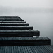 Docks on Water, Classic Monochromatic Photography Gallery