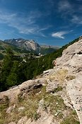 Looking over Sestriere towards Montgenevre in the Italian Alps