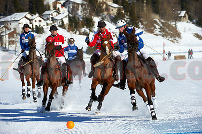 Polo World Cup on Snow St.Moritz 2011 Game Great Britain v Switzerland photos