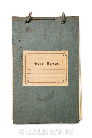 Vintage Notebook Isolated