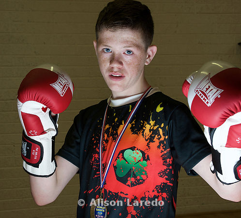 John McDonagh from Castlebar who is World Youth Champion in Savate French Boxing. PHOTO: ALISON LAREDO