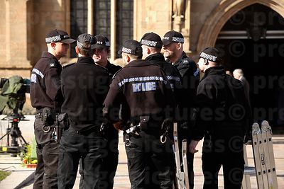 Police Briefing in Front of Leicester Cathedral