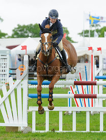 Zara Tindall and DROPS OF BRANDY - Rockingham Castle International Horse Trials 2016