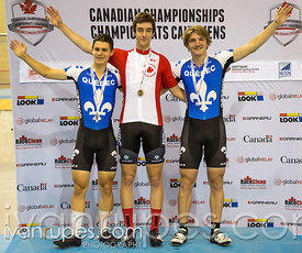 Junior Men Omnium podium. 2015 Canadian Track Championships