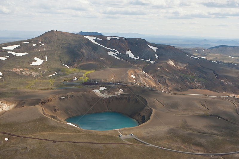 Volcanic crater near Lake Myvatn, Northern Iceland, June 2009.