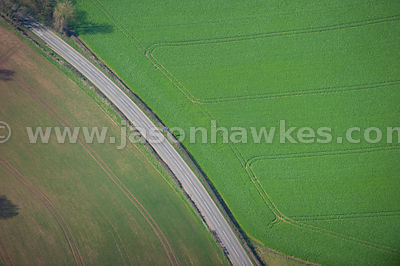 Aerial view of road, Kerne Bridge, Herefordshire