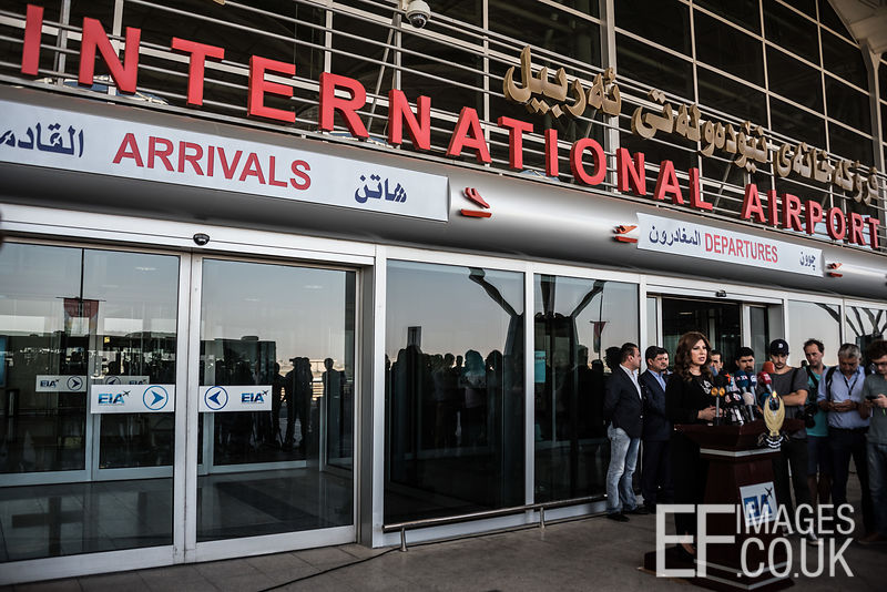 The Managing Director of Erbil International Airport holds a press conference in responce to the enforced closure of her airport to international flights. 29th September, 2017
