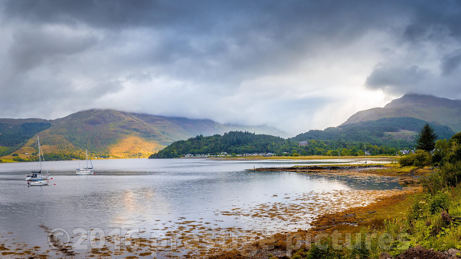 View across the Beautiful Loch Leven in Glencoe Scotland