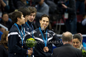 Feb 26, 2010: Pacific Coliseum, Vancouver, BC. Team USA receive their Bronze Medal in the Mens 5000m Relay in the Short Track Speed Skating at the Vancouver 2010 Winter Olympics. Photo by Scott Brammer/coastphoto.com