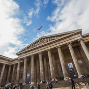 The British Museum located in the Bloomsbury area, London, England, United Kingdom