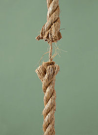 Tension in rope about to break
