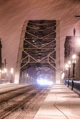 Snowstorm on the Tyne Bridge