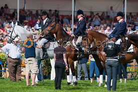 Mark Todd (NZB Land Vision), Piggy French (Jakata) and Mary King (Imperial Cavalier), Badminton Horse Trials 2011