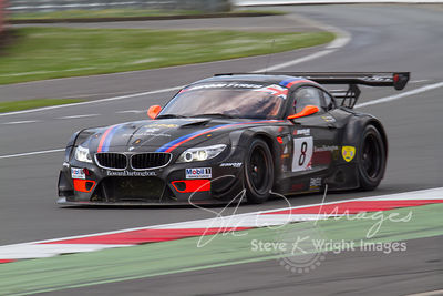 Triple Eight Race Engineering BMW Z4 GT3 in action at the Silverstone 500 - the third round of the British GT Championship 2014 - 1st June 2014