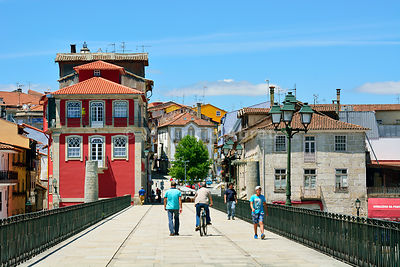The historical centre of Chaves. Tras os Montes, Portugal