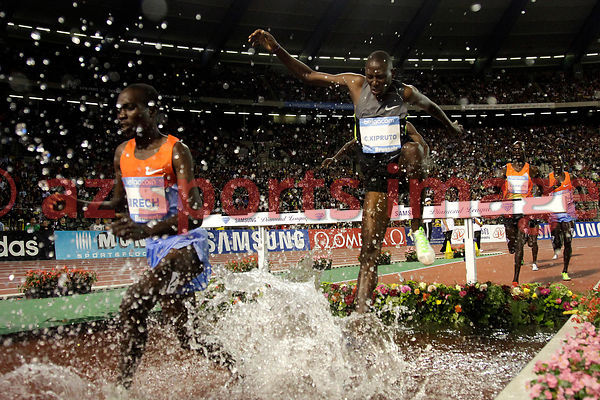 BRUSSELS, BELGIUM - SEPTEMBER 7: Conseslus Kipruto (KEN) 2nd place 3000m SC at thevIAAF Golden League meeting at the Memorial Van Damme Stadium. Photo by Angelos Zymaras / az sports images