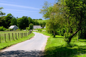 Country lane, Methyr Mawr, Bridgend, South Wales, UK.