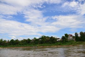 Houses on the Mekong River