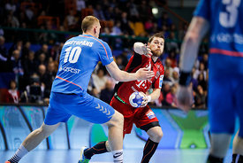 Dainis Kristopans during the Final Tournament - Final Four - SEHA - Gazprom league, Telekom Veszprém - Meshkov Brest in Brest, Belarus, 07.04.2017, Mandatory Credit ©SEHA/ Stanko Gruden