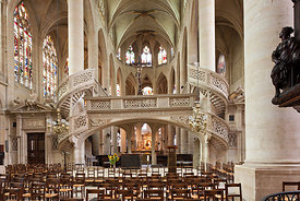 rood screen and choir of saint Etienne du Mont church, Paris