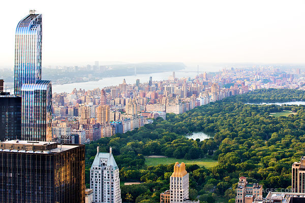 CENTRAL PARK MANHATTAN NEW YORK CITY AERIAL VIEW COLOR